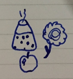 I knew before I started that trying to draw that flower was ambitious...