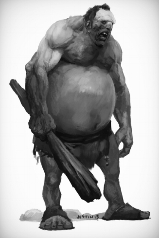 A Hill Giant, from the Monster Manual.